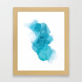 Pool & Denim Alcohol Ink Painting Framed Art Print