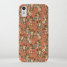 Stucco Cherubs in Terracotta Apricot iPhone Case