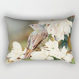 Female Satin Bowerbird Rectangular Pillow