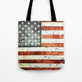 Painted Stars And Stripes Tote Bag