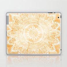 TANGERINE BOHO FLOWER MANDALA Laptop & iPad Skin