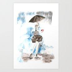 Rainy Art Print