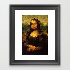 Pixelated Mona Lisa Framed Art Print