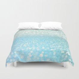 Mermaid Sea Foam Ocean Ombre Glitter Duvet Cover