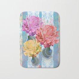 Trio of Peonies - Summer Pastels Bath Mat