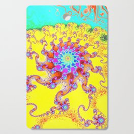 Tropical Octopus Fractal Cutting Board