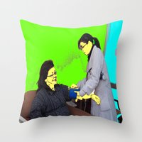 doctor Throw Pillows featuring Doctor by lookiz