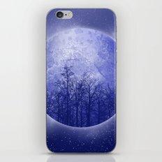 circle blue landscape iPhone & iPod Skin