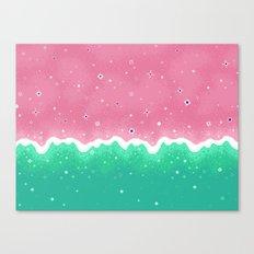 Summer Sweets: Watermelon Galaxy Canvas Print