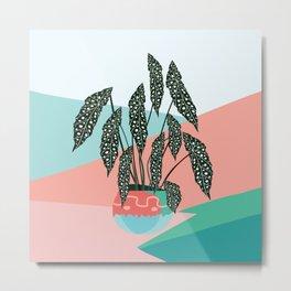 Dotted Begonia Love Metal Print