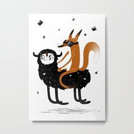 Space Fox Wanderer Metal Print