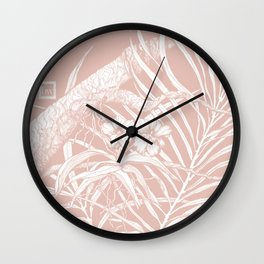 TROPIC ORCHID Blush Wall Clock