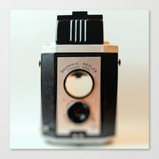 Smile vintage camera brownie reflex Canvas Print