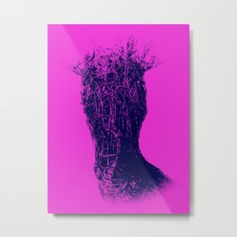 OH DEAR - DARK PINK Metal Print