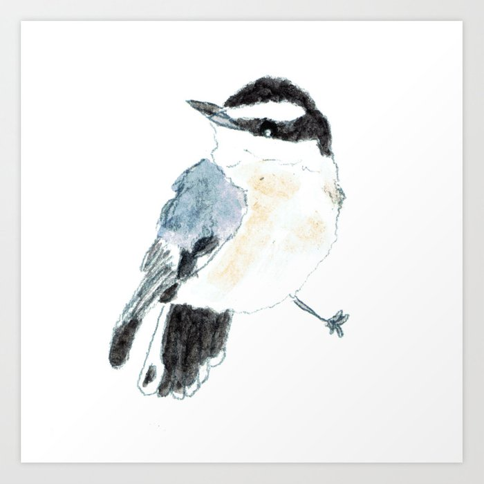 Baby Red-Breasted Nuthatch Art Print by Eve Pan - X-Small (s6-12027024p4a1v45) photo
