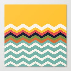 Retro Chevrons Canvas Print
