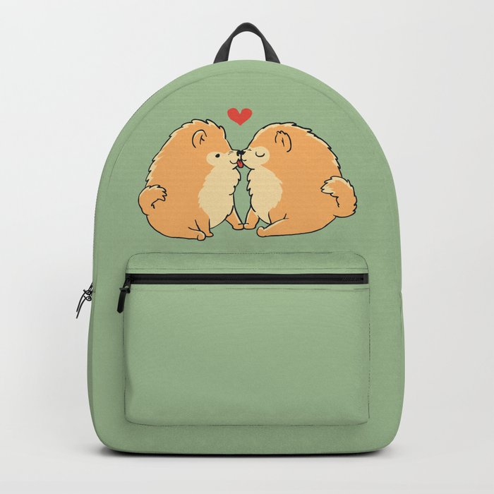 Pomeranian Kisses Backpack
