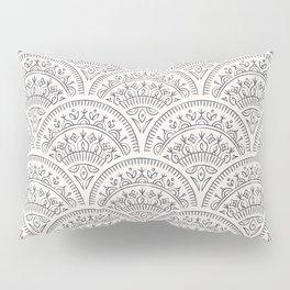 Bohemian Scallops - Obsidian Pillow Sham