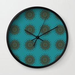 Himalayan Candy Green- Mini Mandala Pattern Wall Clock