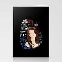 lana Stationery Cards featuring Lana by Aaron Cushley