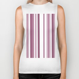 Modern pastel blush pink burgundy stripes Biker Tank