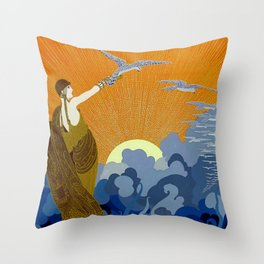 """""""Wings of Victory"""" Art Deco Design Throw Pillow"""