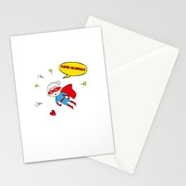 Flying Super Grandma Stationery Cards