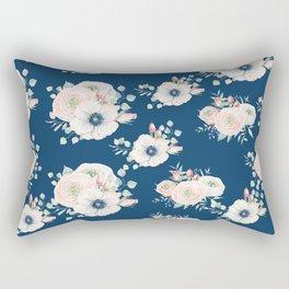 Dog Rose Pattern Rectangular Pillow