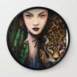 Fierce Beauty Wall Clock