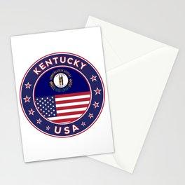 Kentucky, Kentucky t-shirt, Kentucky sticker, circle, Kentucky flag, white bg Stationery Cards