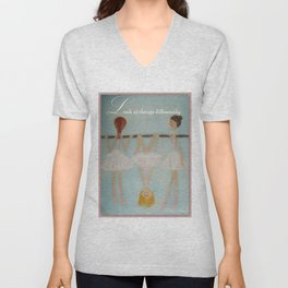 Look at things differently Unisex V-Neck