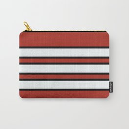 70s Style Red White Black Retro Stripes Nidaba Carry-All Pouch
