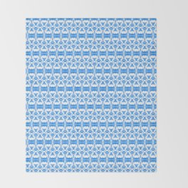 Dividers 02 in Blue over White Throw Blanket