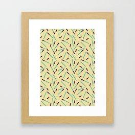 Pen Fall Framed Art Print