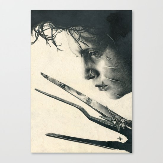 Edward Scissorhands ~ Johnny Depp Traditional Portrait Print Canvas Print