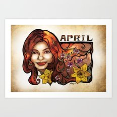 Brenda of April Art Print