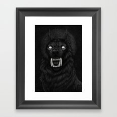 Dark Moon Framed Art Print