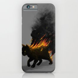 This Cat Is On Fire! iPhone Case