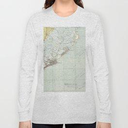 Vintage Map of Atlantic City NJ (1941) Long Sleeve T-shirt