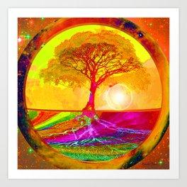 Tree of Life Sunrise Art Print