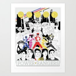 The Mightiest, Morphin'est Art Print