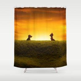 """""""El Encuentro"""" Shower Curtain"""