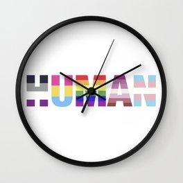 Human pride Wall Clock