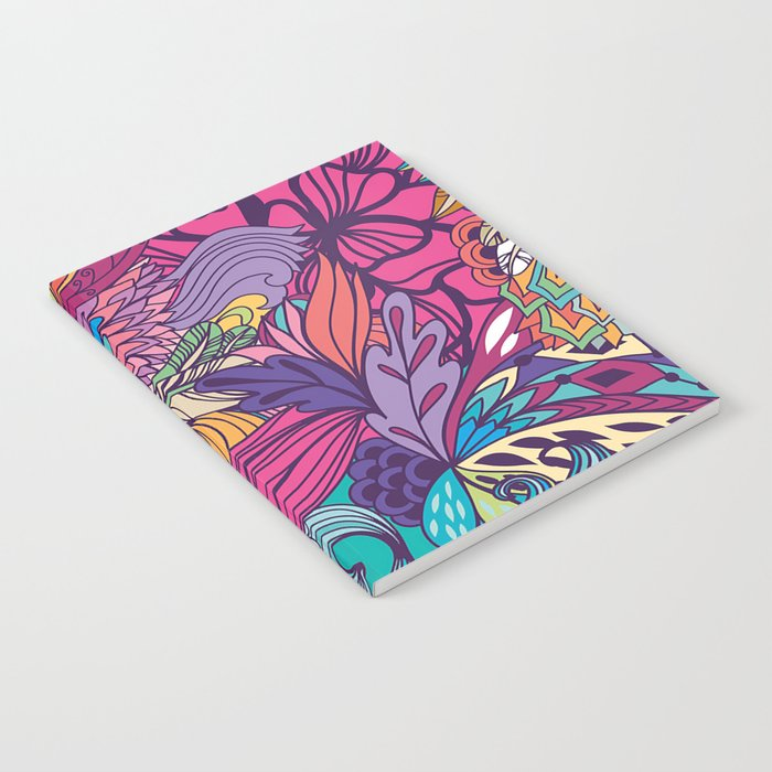 Pink Fantasy Flowers Notebook