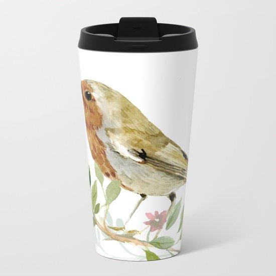 bird 3 Metal Travel Mug