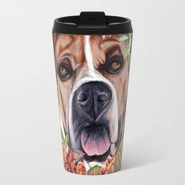 Flower power puppy Travel Mug