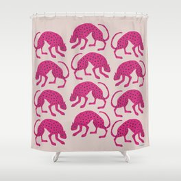 Wild Cats - Pink Shower Curtain
