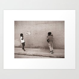 Children in Las Galeras Art Print