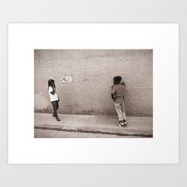 Children in Las Galeras Art Print