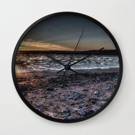 Dark moody sunset Wall Clock
